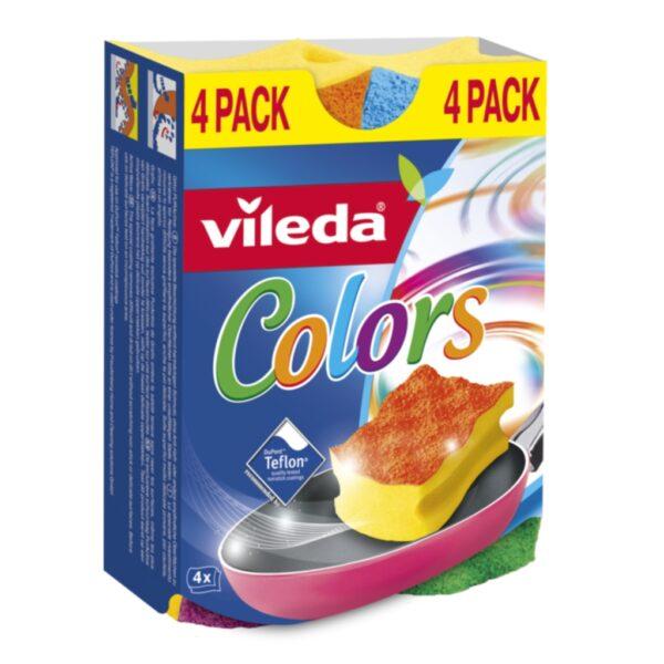 Vileda Allroundsvamp Color Scourer 4-pakk 4023103189539 Replace: N/A