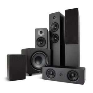 Argon Audio Alto 55 MK2 + Alto 5 MK2 + Alto C MK2 + Bass 10 MK2 - 5.1 Høyttalersystem
